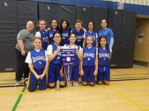 Our Intermediate Girls' Volleyball Team took home the Stouffville Cup!