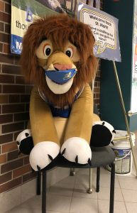 Our Lion Mascot has a name…